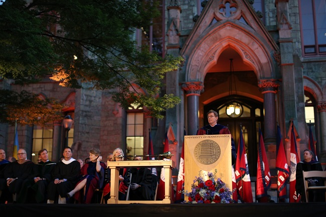 2015 Penn Convocation ceremony