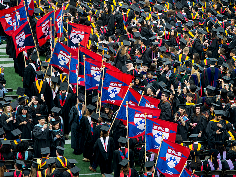 Commencement flags
