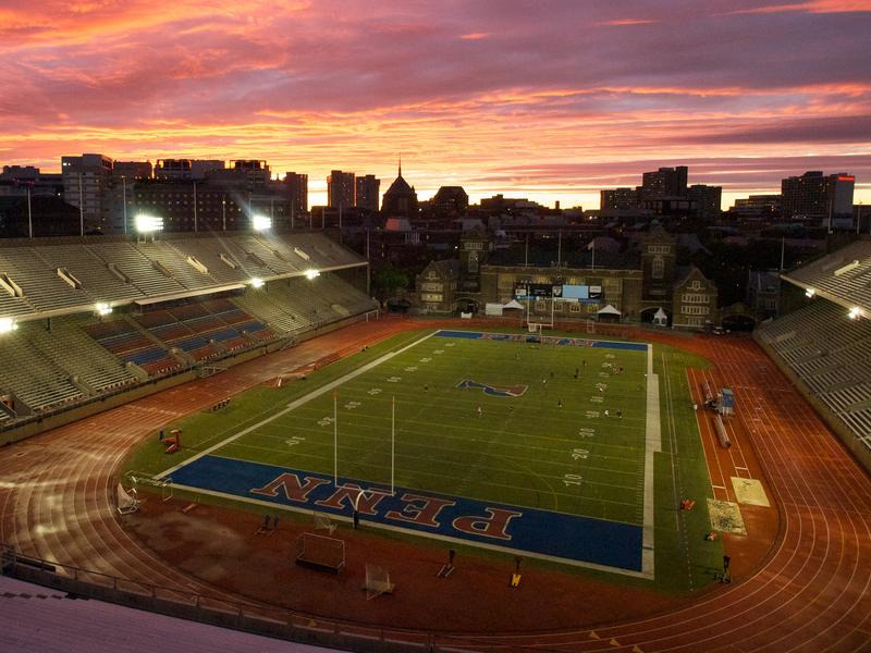 Franklin Field in sunset